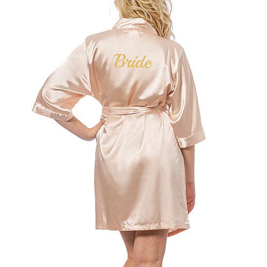 Cathy's Concepts Bride Satin Robe