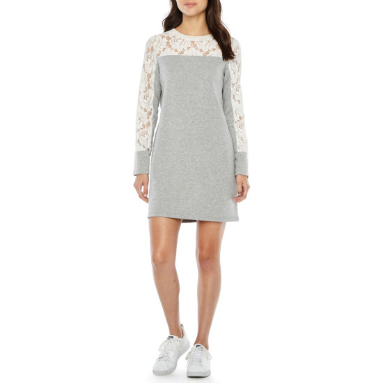 Ronni Nicole Lace Long Sleeve Shift Dress