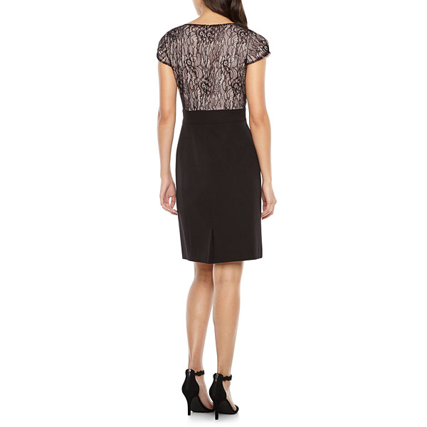 Chelsea Rose Short Sleeve Lace Sheath Dress