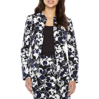 Black Label by Evan-Picone Floral Suit Jacket