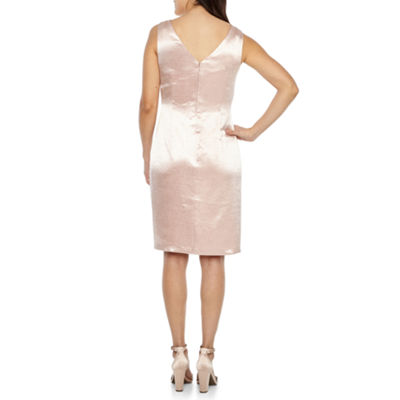 Scarlett Sleeveless Beaded Neckline Sheath Dress