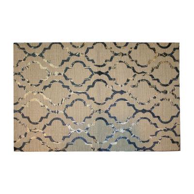 Foil Print Rectangular Rug