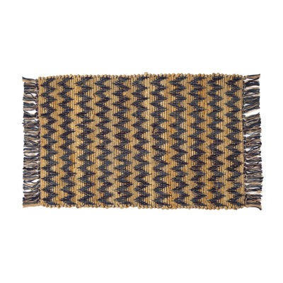 Jute Chevron Rectangular Accent Rug