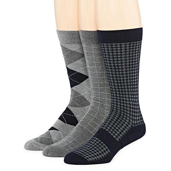 Stafford 3 Pair Crew Socks-Mens