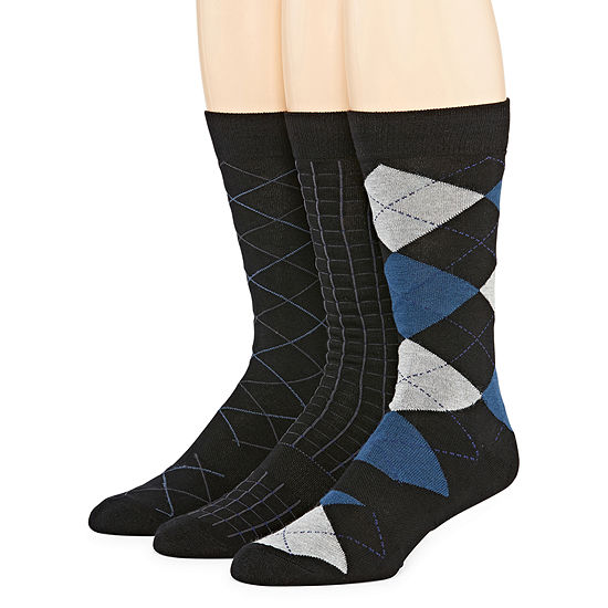 Stafford Stafford 3 Pair Crew Socks-Mens