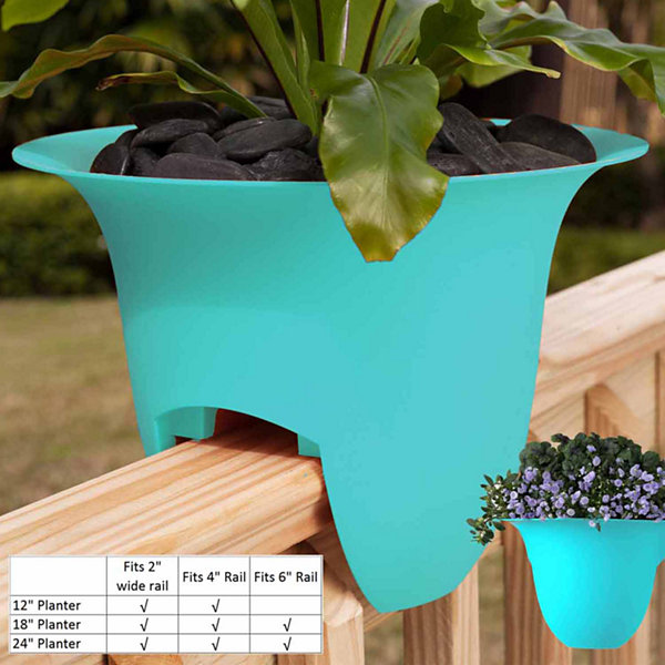 "Bloem Modica Deck Rail 12"" Planter"