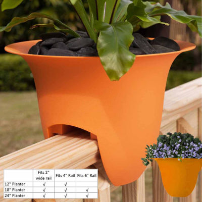 "Bloem Modica Deck Rail 18"" Planter"