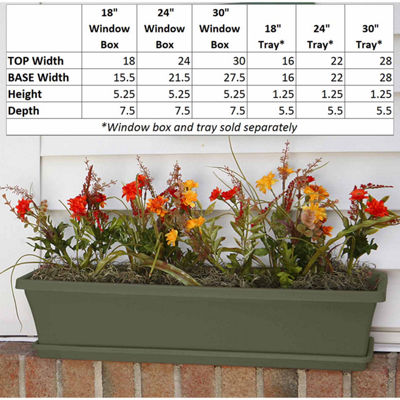 "Bloem Terra Window Box 18"" Planter"