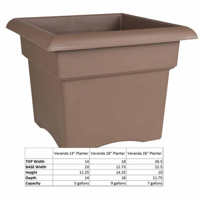 "Bloem Veranda Deck Box 14"" Planter"