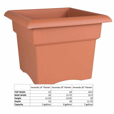 "Bloem Veranda Deck Box 18"" Planter"