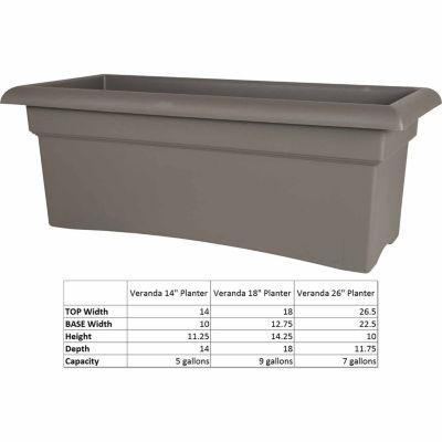 Bloem Veranda Deck Box Planter - 26