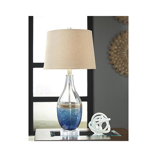 Signature Design by Ashley® Set of 2 Johanna Glass Table Lamps