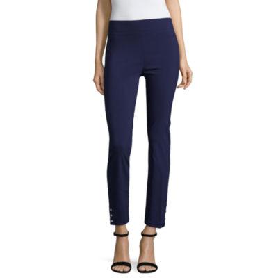 Liz Claiborne Pearl Button Hem Ankle Pants