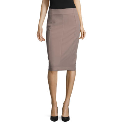 Worthington Womens High Waisted Stretch Pencil Skirt