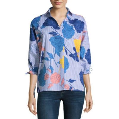 Belle + Sky 3/4 Sleeve Oversized Shirt