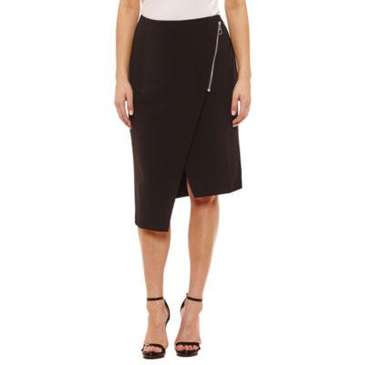 Bold Elements Sexy Stretch Asymmetrical Pencil Skirt