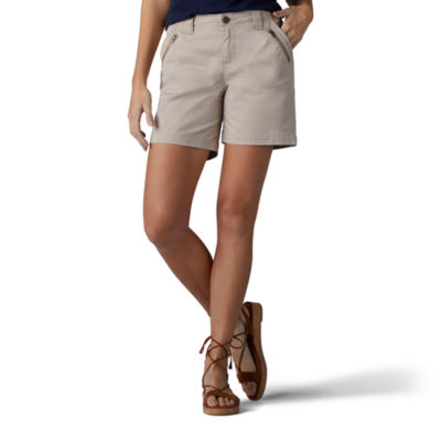 Lee® Tailored Chino Zipper Shorts