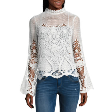 Project Runway Bell Sleeve Lace Top (unlined)