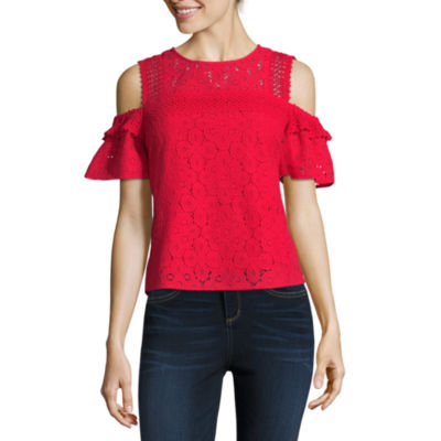 Project Runway Cold Shoulder Lace Top