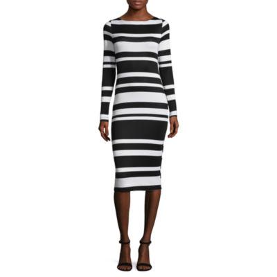 Project Runway Stripe Knit Bodycon Dress