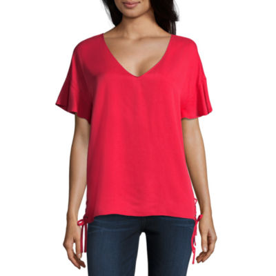 Project Runway V-Neck Top with Ties