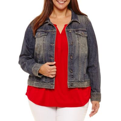 Liz Claiborne Denim Jacket- Plus