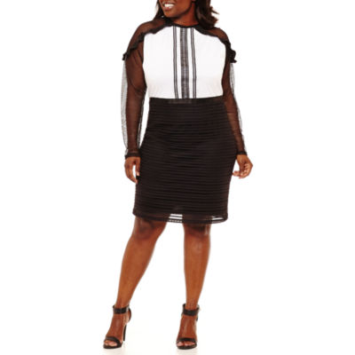 Project Runway Lace Mix Dress - Plus