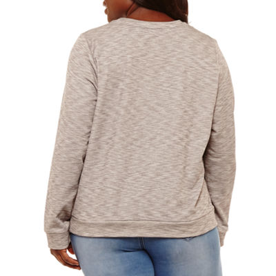 Project Runway Lace Front Sweatshirt - Plus