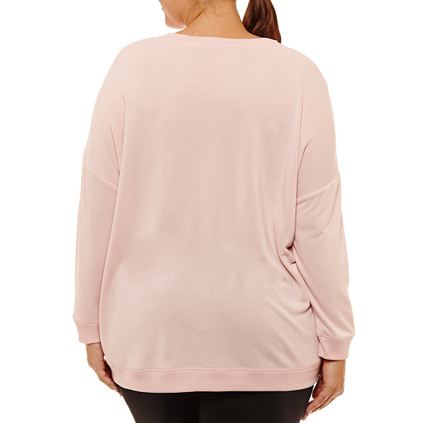 Xersion Long Sleeve Lounge Pullover - Plus