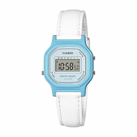 Casio Womens Digital White Strap Watch-La11wl-2a