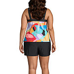 Zeroxposur Geometric Tankini Swimsuit Top or Swimsuit Bottom Plus