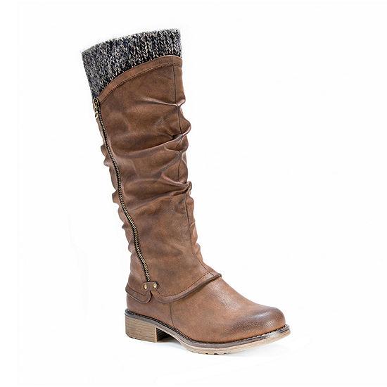 Muk Luks Womens Bianca Water Resistant Winter Boots Flat Heel