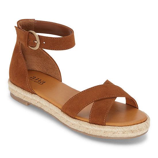a.n.a Womens Blaze Ankle Strap Flat Sandals
