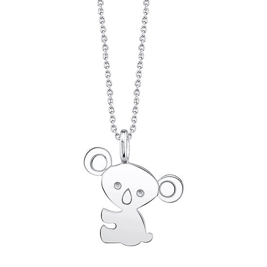 Footnotes Koala Sterling Silver 18 Inch Cable Pendant Necklace