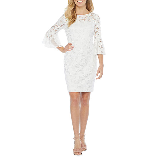 Studio 1 3/4 Bell Sleeve Lace Fit & Flare Dress