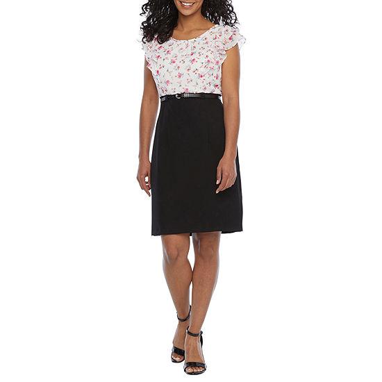 Alyx-Petite Short Sleeve Sheath Dress
