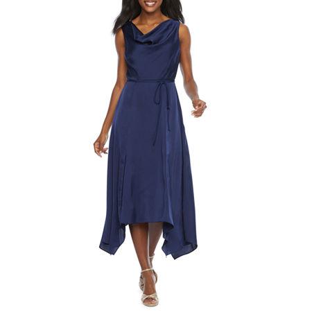 70s Prom, Formal, Evening, Party Dresses J Taylor Sleeveless Satin Fit  Flare Dress $89.99 AT vintagedancer.com
