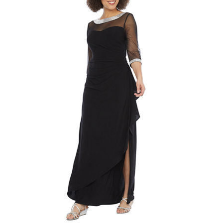 80s Dresses | Casual to Party Dresses R  M Richards 34 Sleeve Embellished Evening Gown $55.99 AT vintagedancer.com
