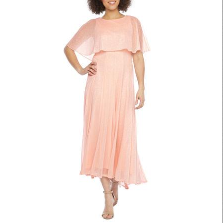 Vintage Cocktail Dresses, Party Dresses J Taylor Short Sleeve Cape Evening Gown $62.99 AT vintagedancer.com
