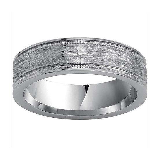 Mens Textured Cobalt Ring