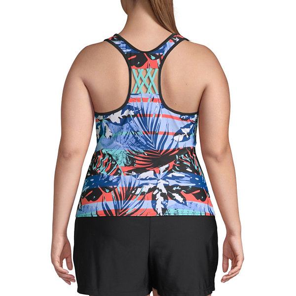Zeroxposur Tropical Tankini Swimsuit Top Plus