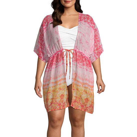 Porto Cruz Tie-dye Tie Dye Dress Swimsuit Cover-Up Plus