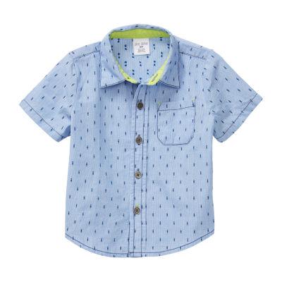 Okie Dokie Baby Boys Short Sleeve Button-Down Shirt