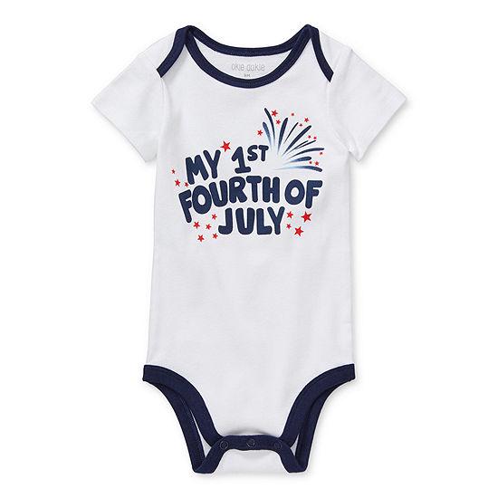 Okie Dokie My 1st Fourth Of July Baby Unisex Bodysuit