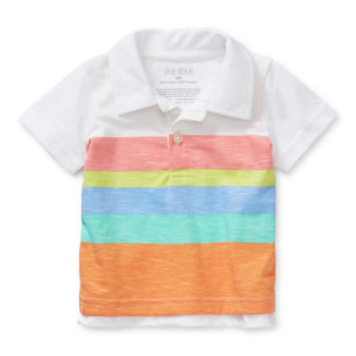 Okie Dokie Baby Boys Short Sleeve Polo Shirt