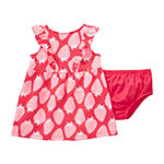 Okie Dokie 2-pc. Girls Sleeveless A-Line Dress - Baby