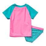 Okie Dokie Toddler Rash Guard Set