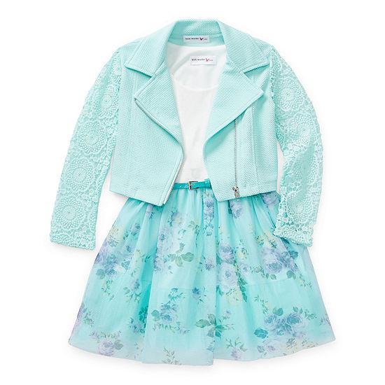 Knit Works Little & Big Girls 2-pc. Jacket Dress