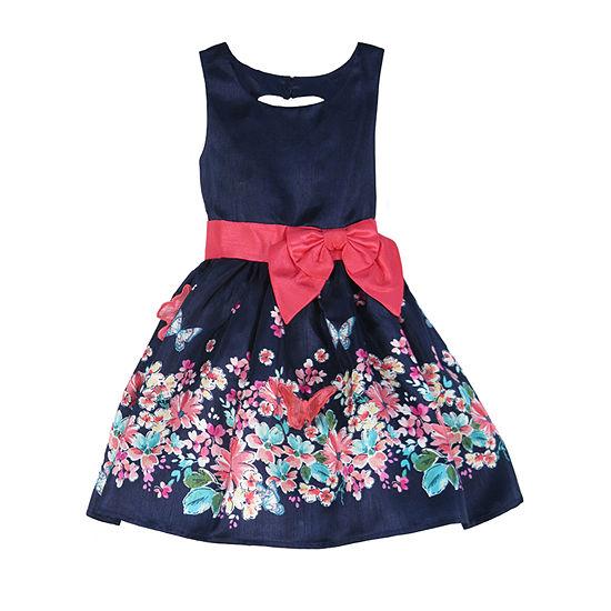 Lilt Little & Big Girls Sleeveless Party Dress