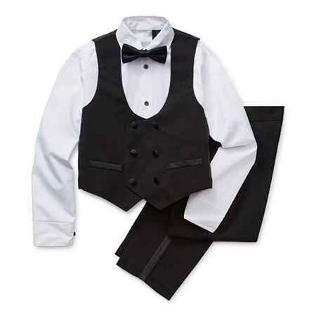 1920s Children Fashions: Girls, Boys, Baby Costumes Steve Harvey Little  Big Boys 4-pc. Suit Set 14  Black $41.19 AT vintagedancer.com